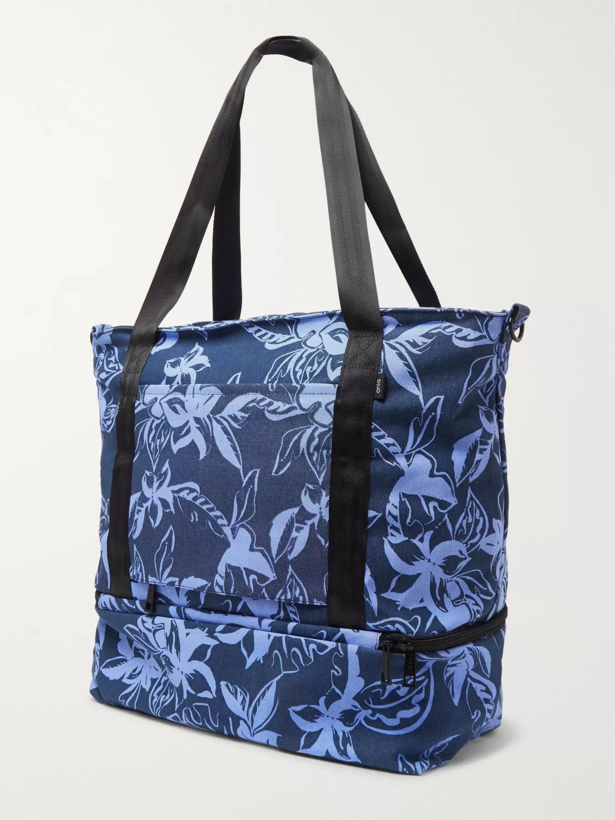 Onia Printed Cotton-Canvas Tote Bag