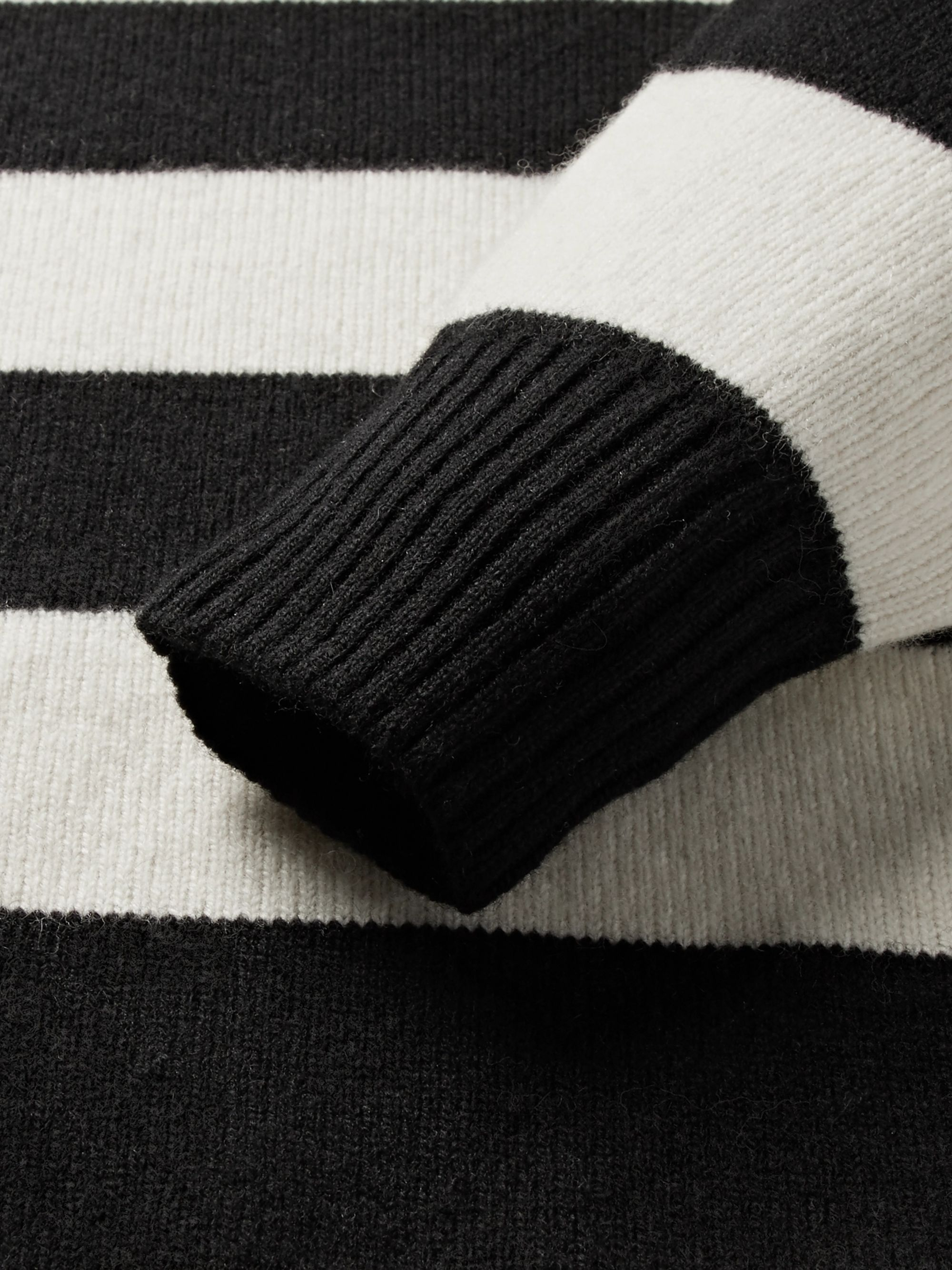 Lardini Slim-Fit Striped Wool and Cashmere-Blend Sweater
