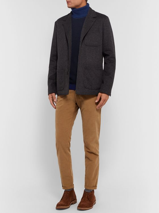 Boglioli Colour-Block Virgin Wool and Cashmere-Blend Rollneck Sweater