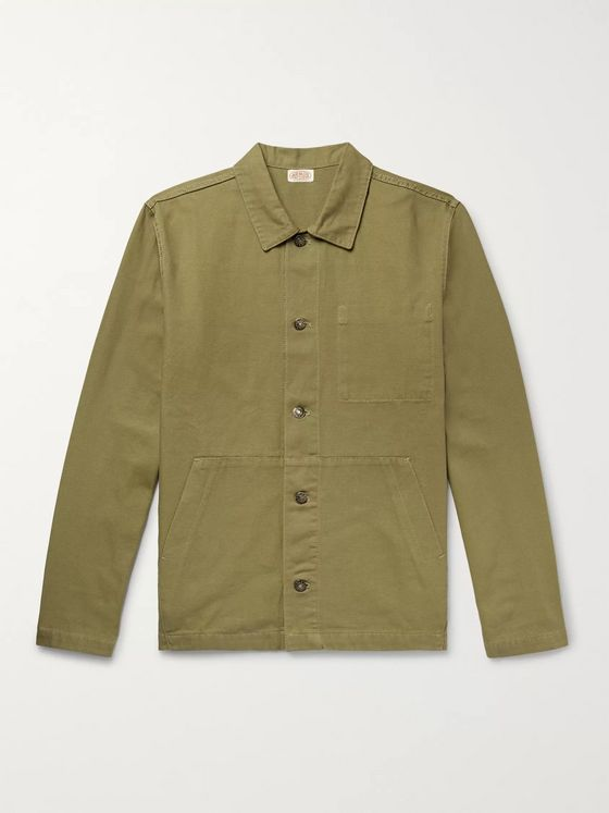 Armor Lux Cotton-Canvas Chore Jacket