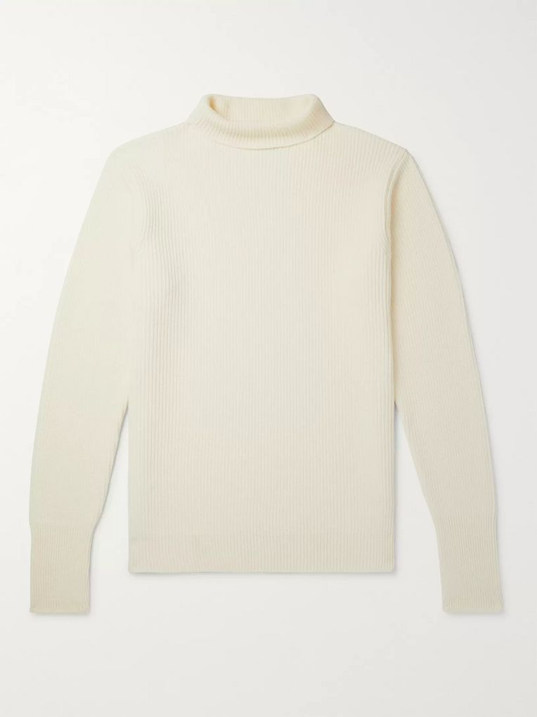 Barena Slim-Fit Ribbed Virgin Wool Rollneck Sweater