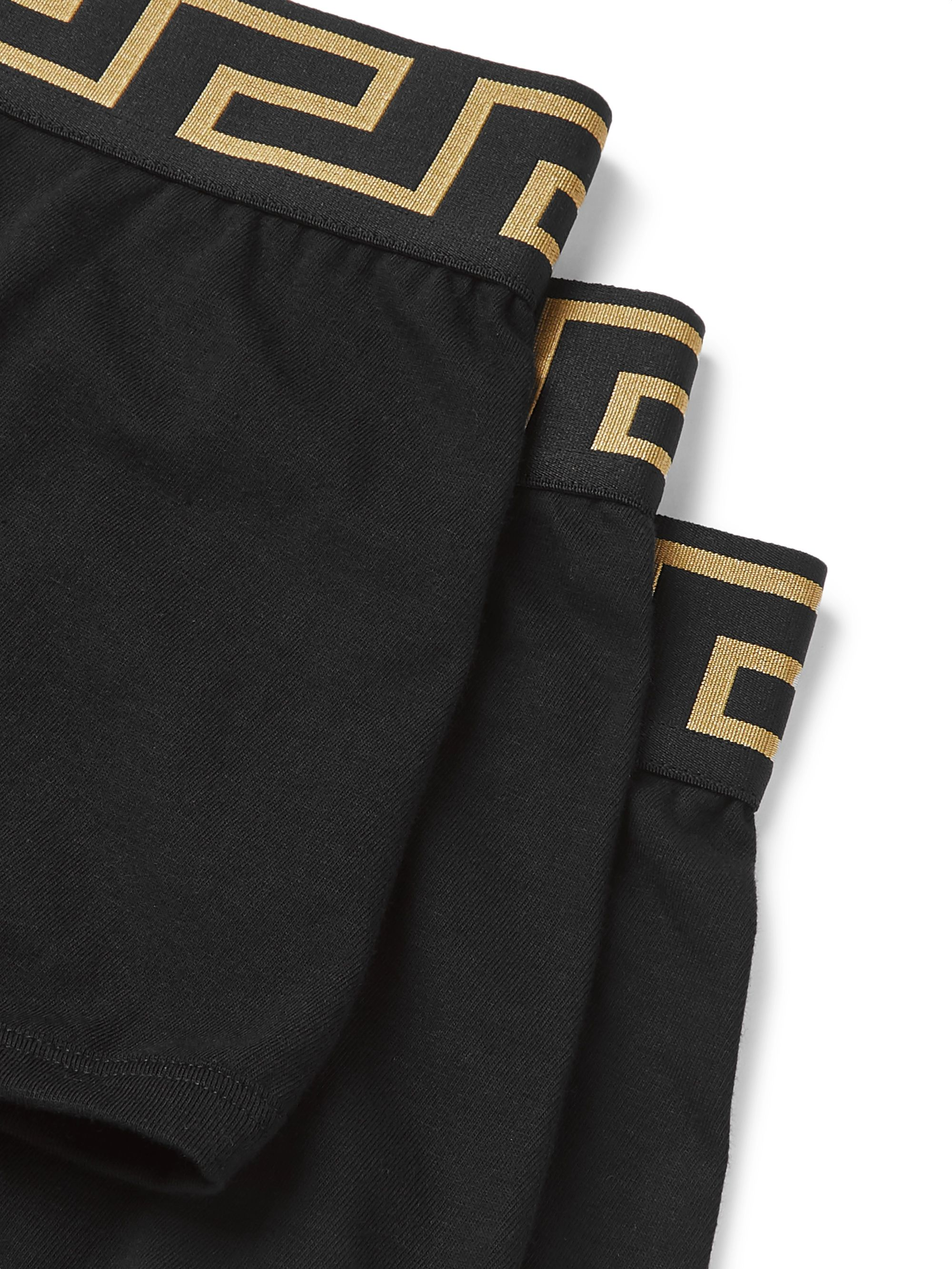 Versace Three-Pack Logo-Detailed Stretch-Cotton Boxer Briefs