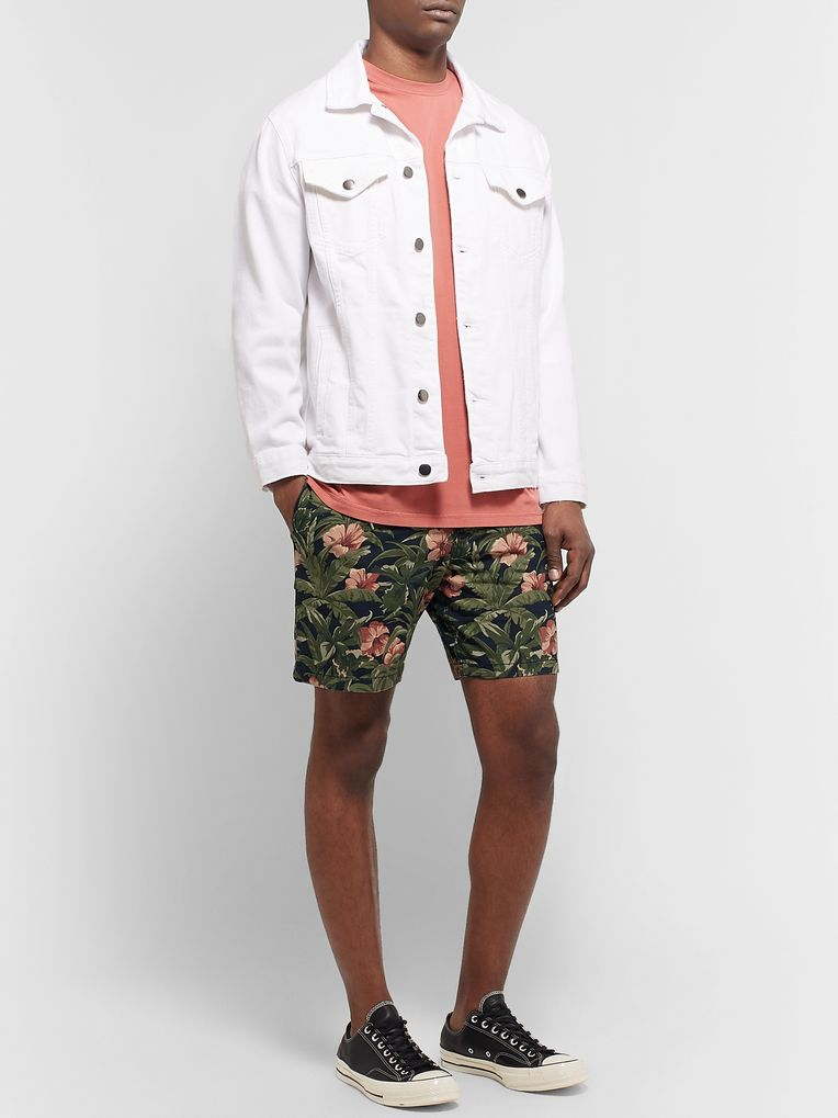 A.P.C. Eli Printed Cotton-Ripstop Drawstring Shorts