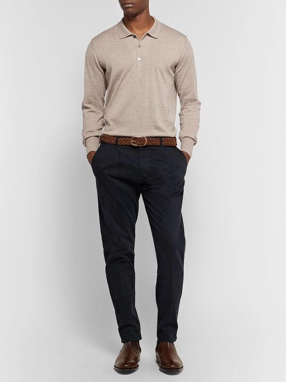 Thom Sweeney Merino Wool Polo Shirt