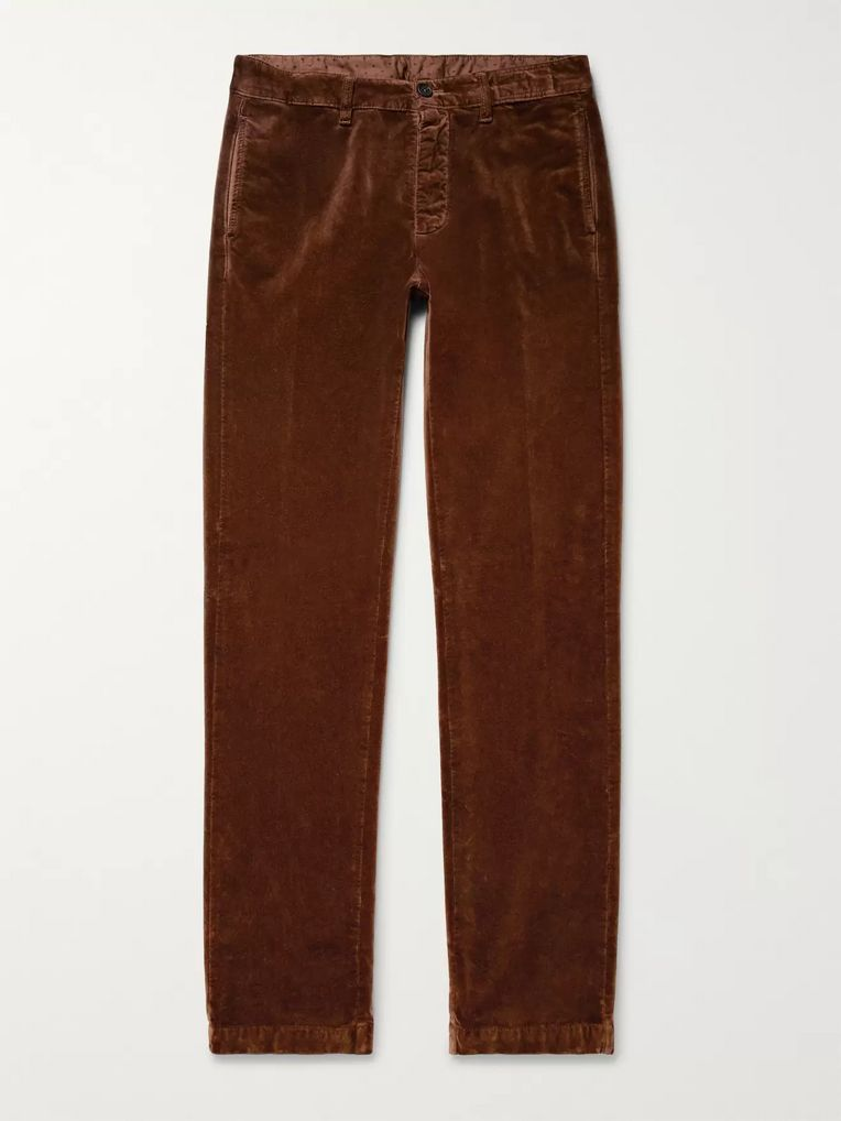 Massimo Alba Cotton-Velvet Trousers