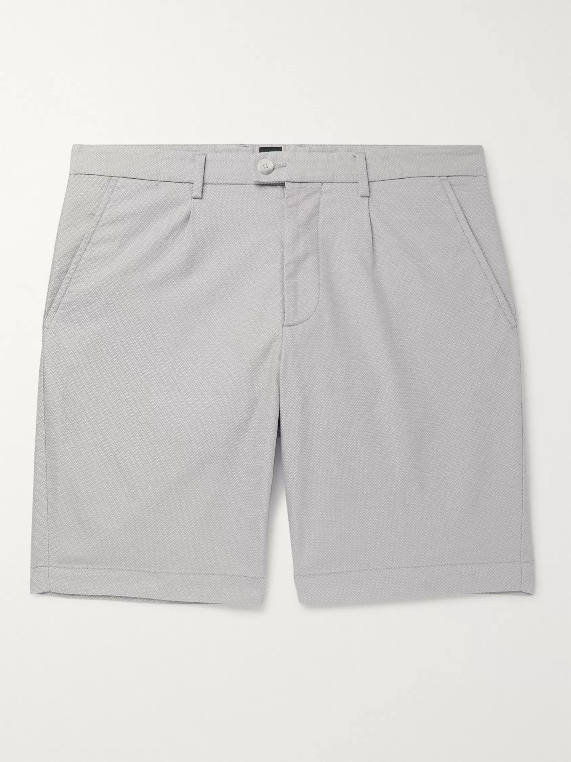 Hugo Boss Slice Slim-Fit Cotton-Blend Jacquard Shorts