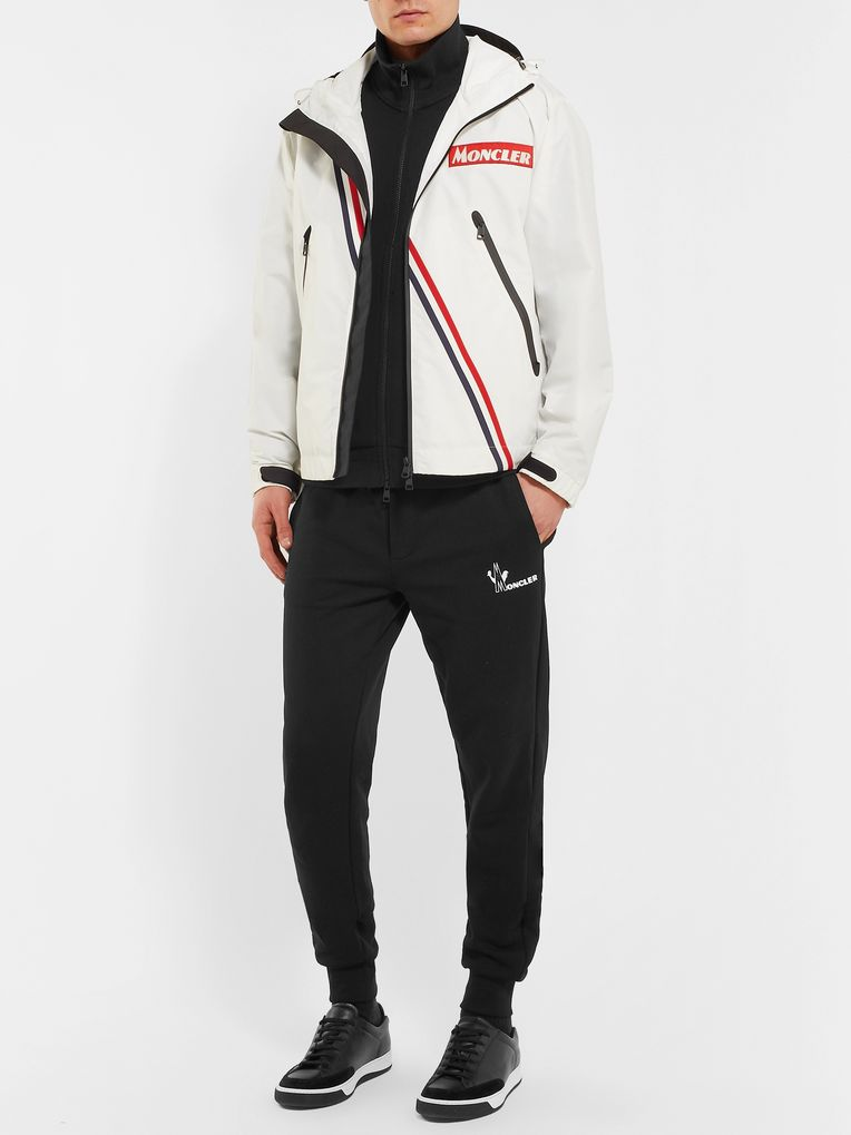 Moncler Maglia Slim-Fit Loopback Cotton-Jersey Zip-Up Sweatshirt