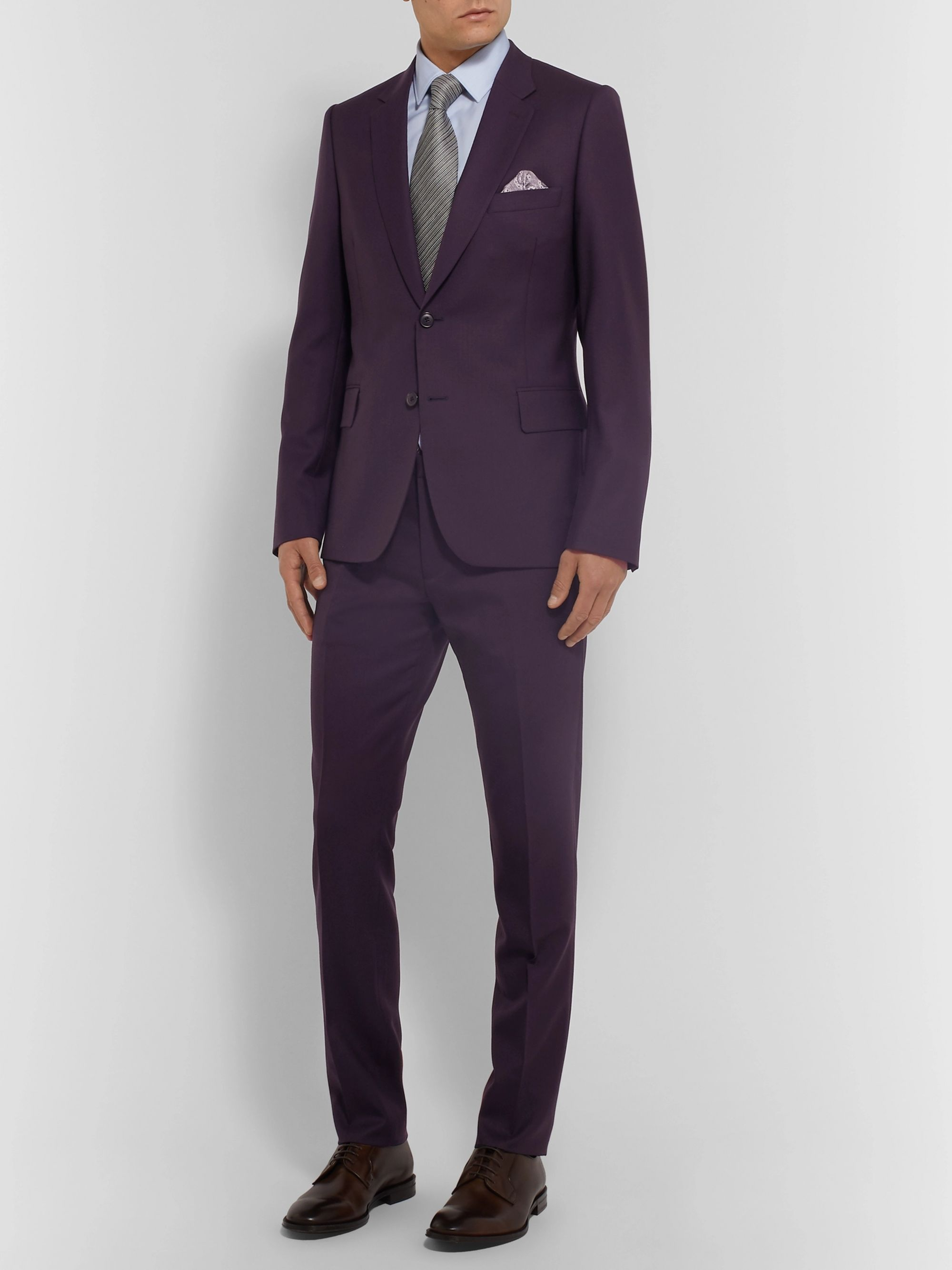 Paul Smith Aubergine Soho Slim-Fit Wool Suit Jacket