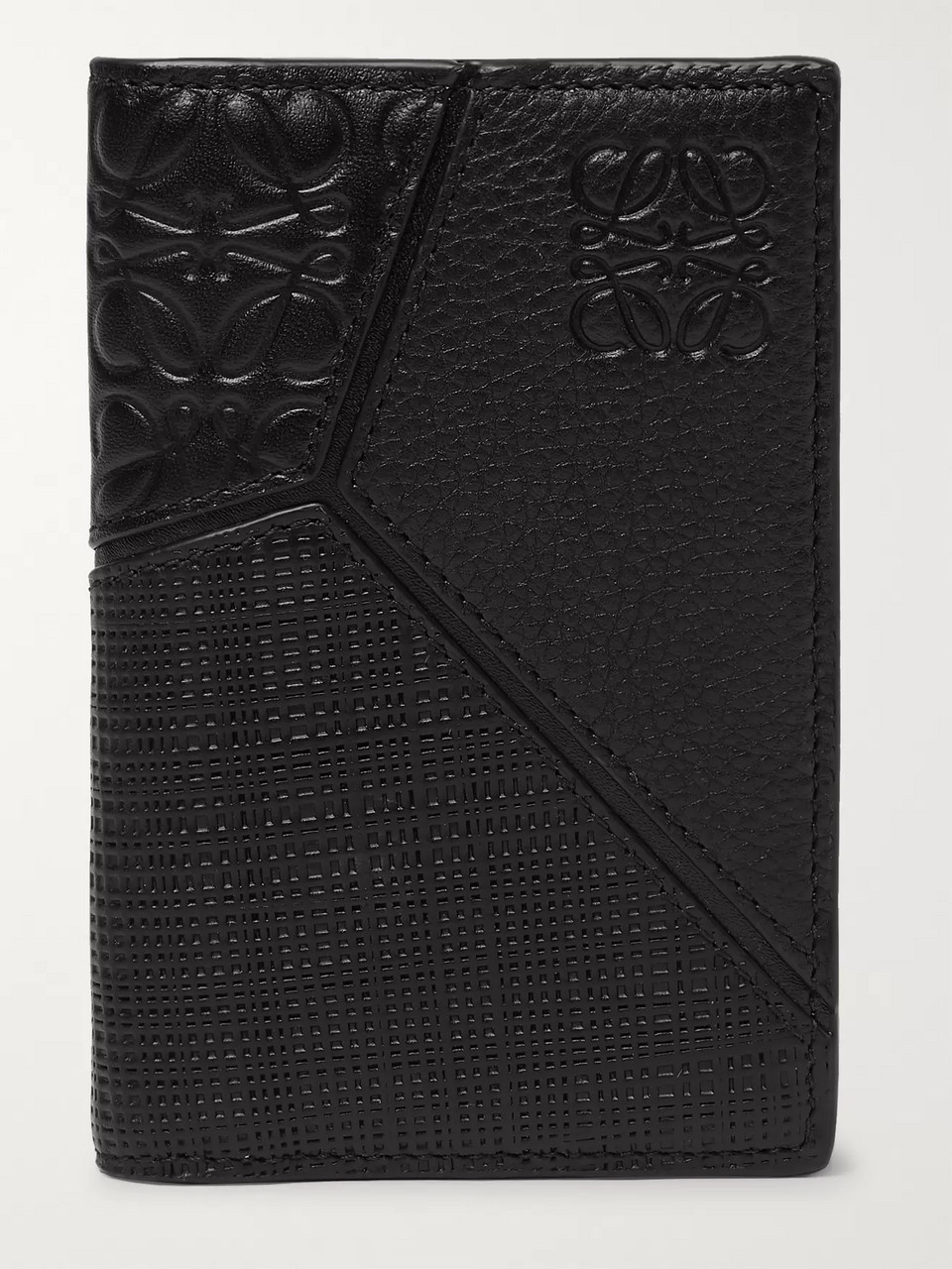 Loewe Puzzle Logo-Embossed Leather Bifold Cardholder
