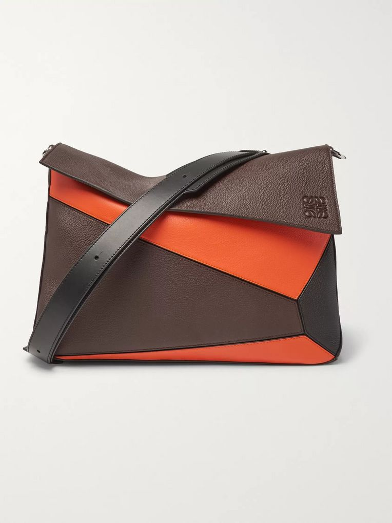 Loewe Puzzle Full-Grain Leather Messenger Bag