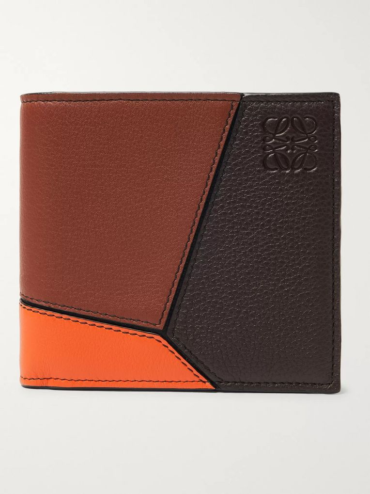 Loewe Puzzle Colour-Block Full-Grain Leather Billfold Wallet