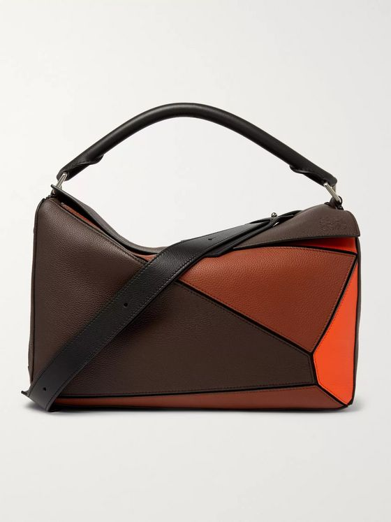 Loewe Puzzle XL Full-Grain Leather Messenger Bag