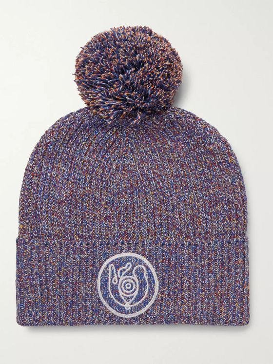 Loewe Eye/LOEWE/Nature Mélange Cotton-Blend Beanie