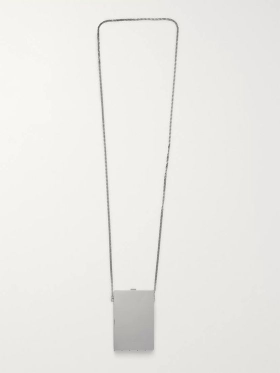 AMBUSH® Card Case Sterling Silver Necklace