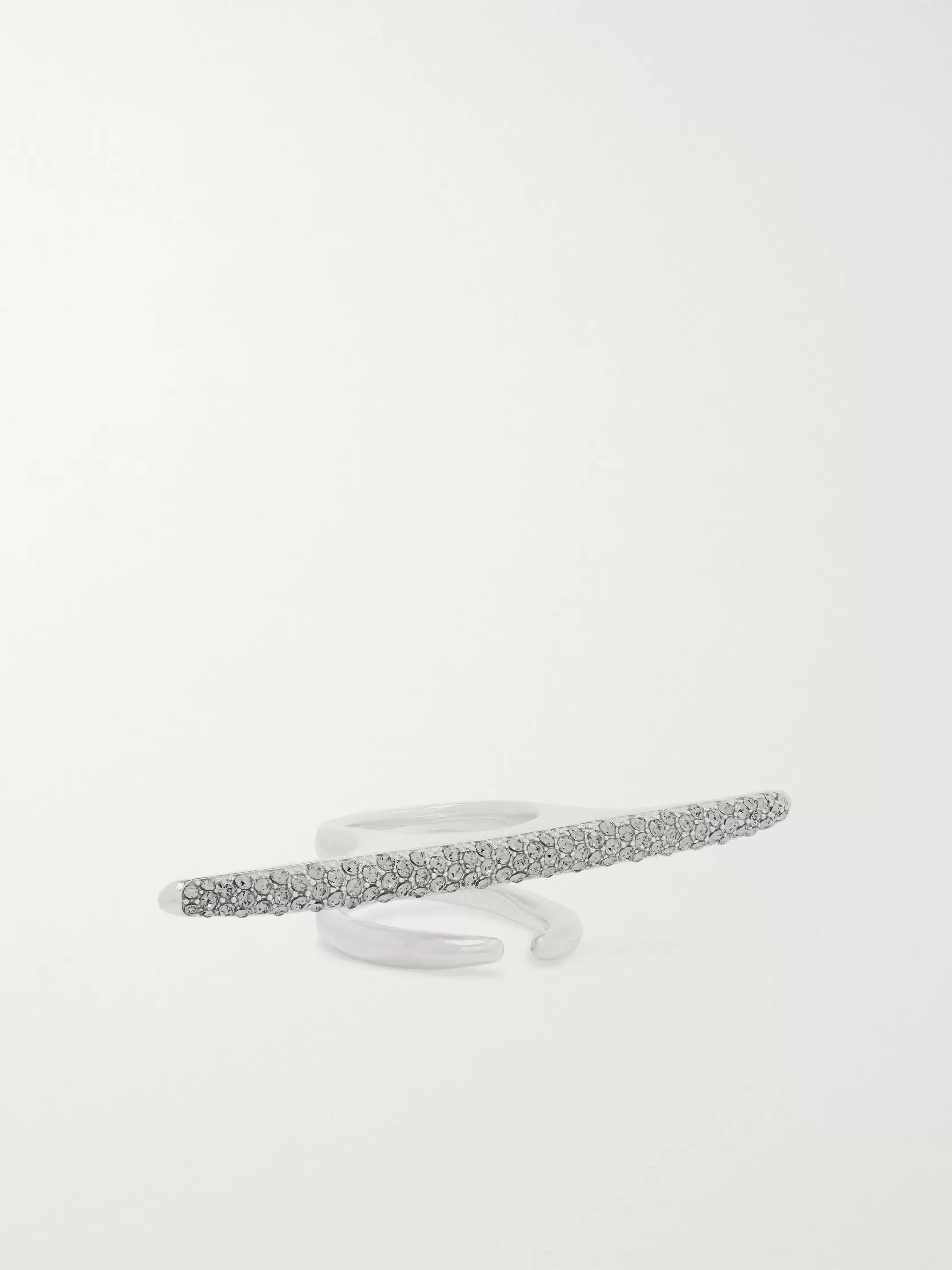 AMBUSH® Liquid Metal Sterling Silver and Crystal Ring