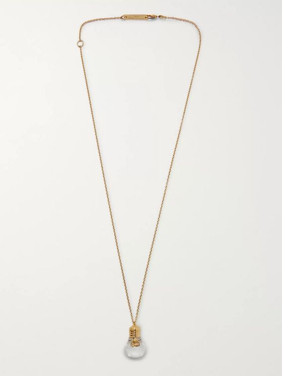 AMBUSH® Light Bulb Gold-Tone and Glass Necklace