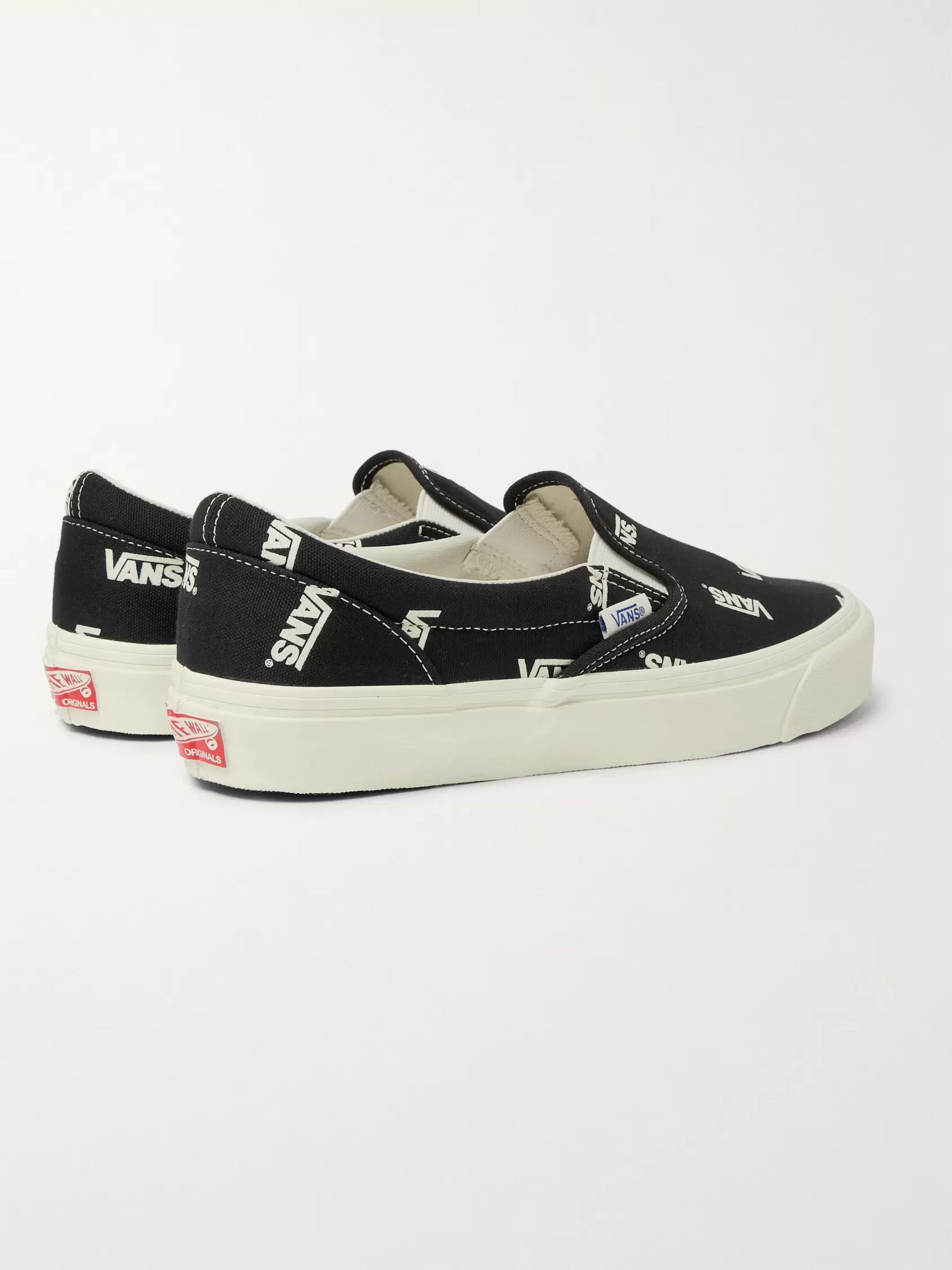 Vans OG Classic LX Logo-Print Canvas Slip-On Sneakers
