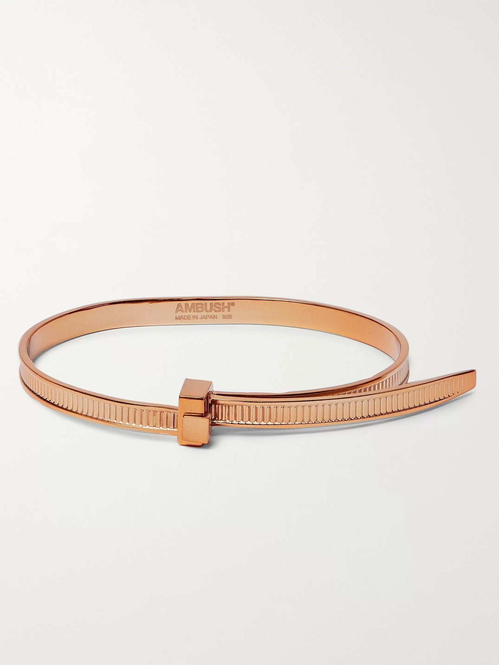 AMBUSH Zip Tie Bronze-Plated Bracelet