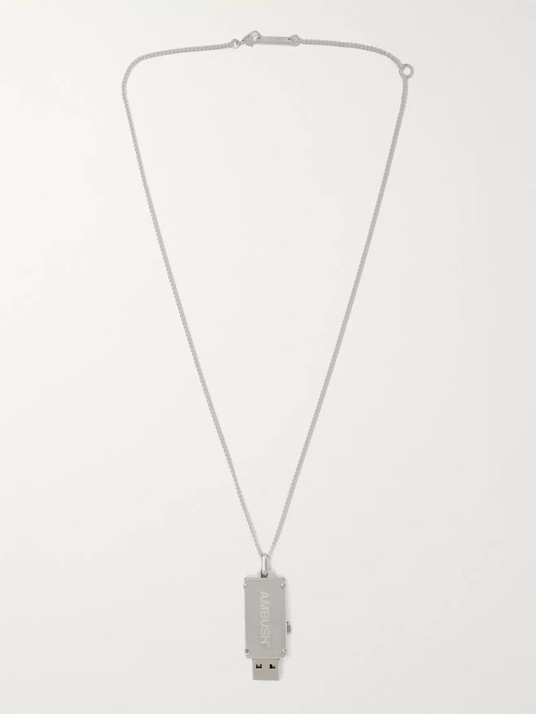 AMBUSH® USB Sterling Silver Necklace