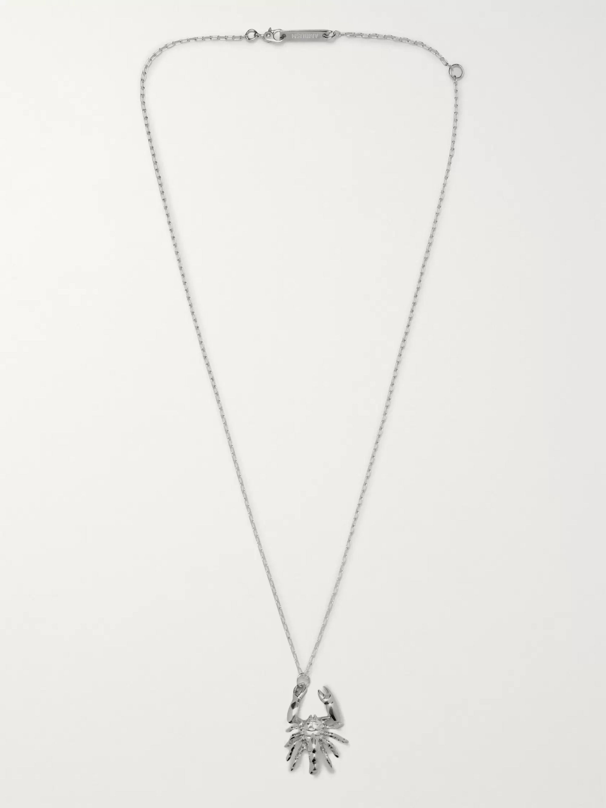 AMBUSH® Scorpion Sterling Silver Necklace