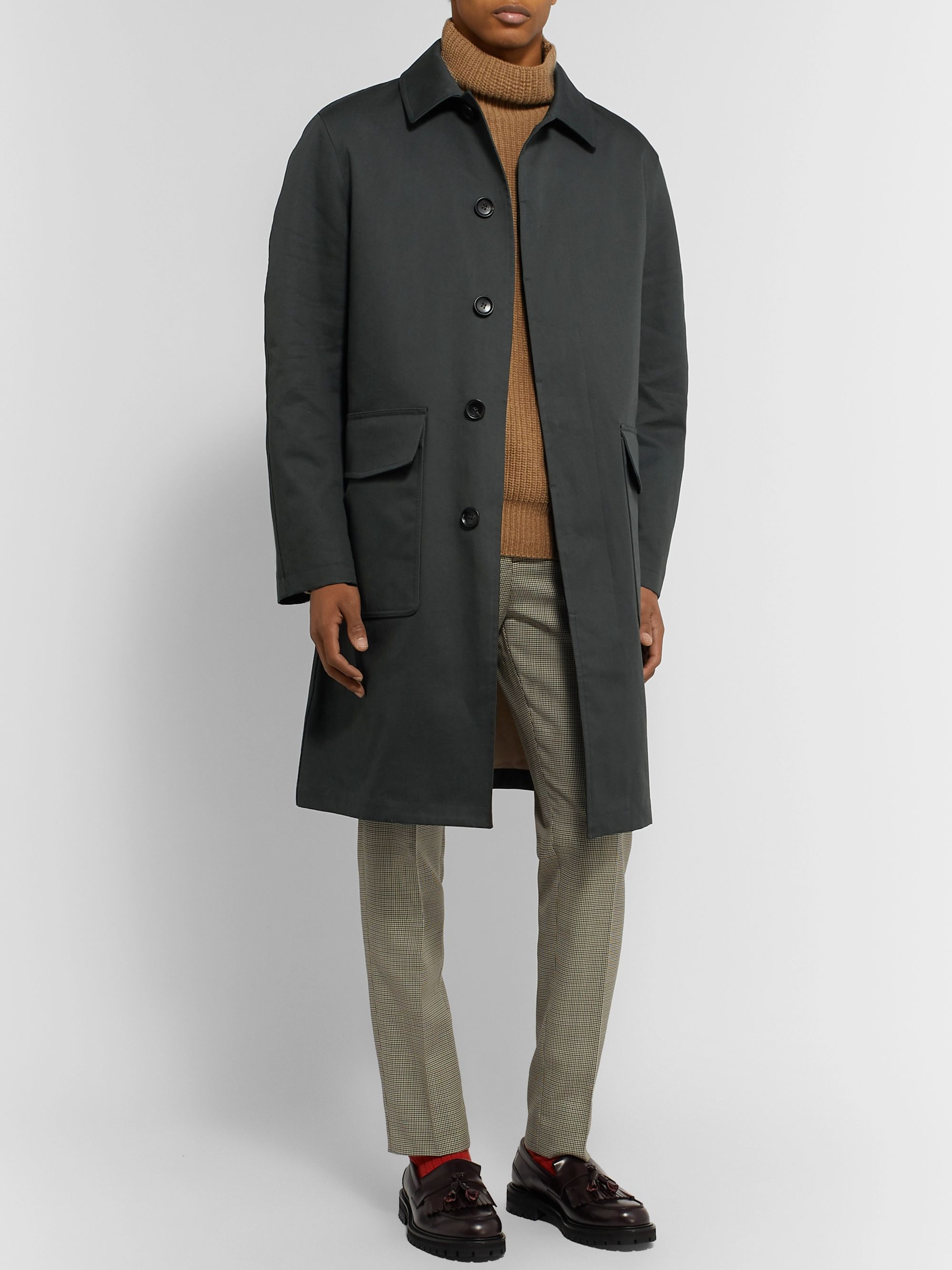 Mr P. Oversized Bonded Cotton-Blend Raincoat