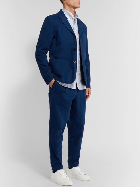 MR P. Unstructured Cotton-Blend Moleskin Suit Jacket