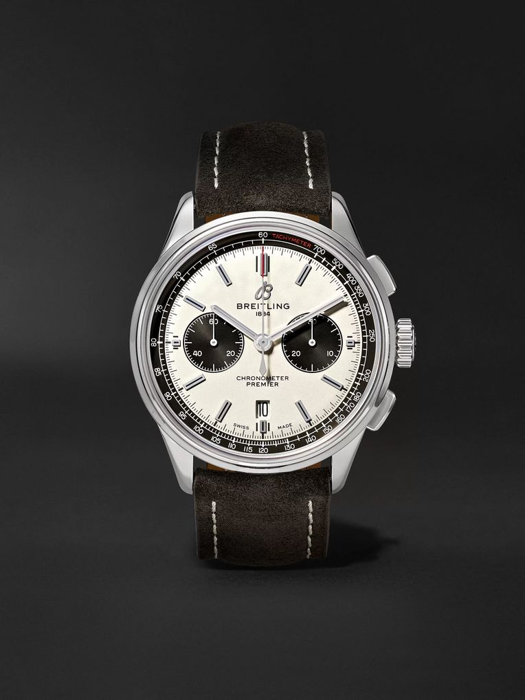 Breitling Premier B01 Chronograph 42mm Stainless Steel and Nubuck Watch