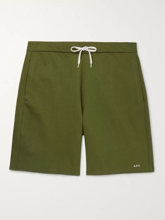 A.P.C. Loopback Cotton-Jersey Sweat Shorts