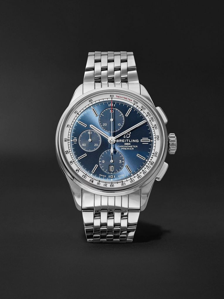 Breitling Premier Automatic Chronograph 42mm Stainless Steel Watch, Ref. No. A13315351C1A1