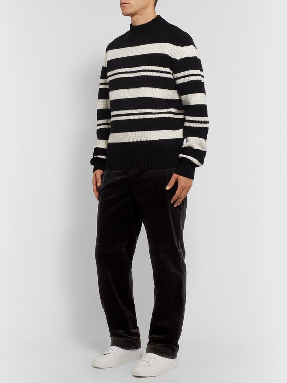 Mr P. Wide-Leg Cotton-Corduroy Trousers
