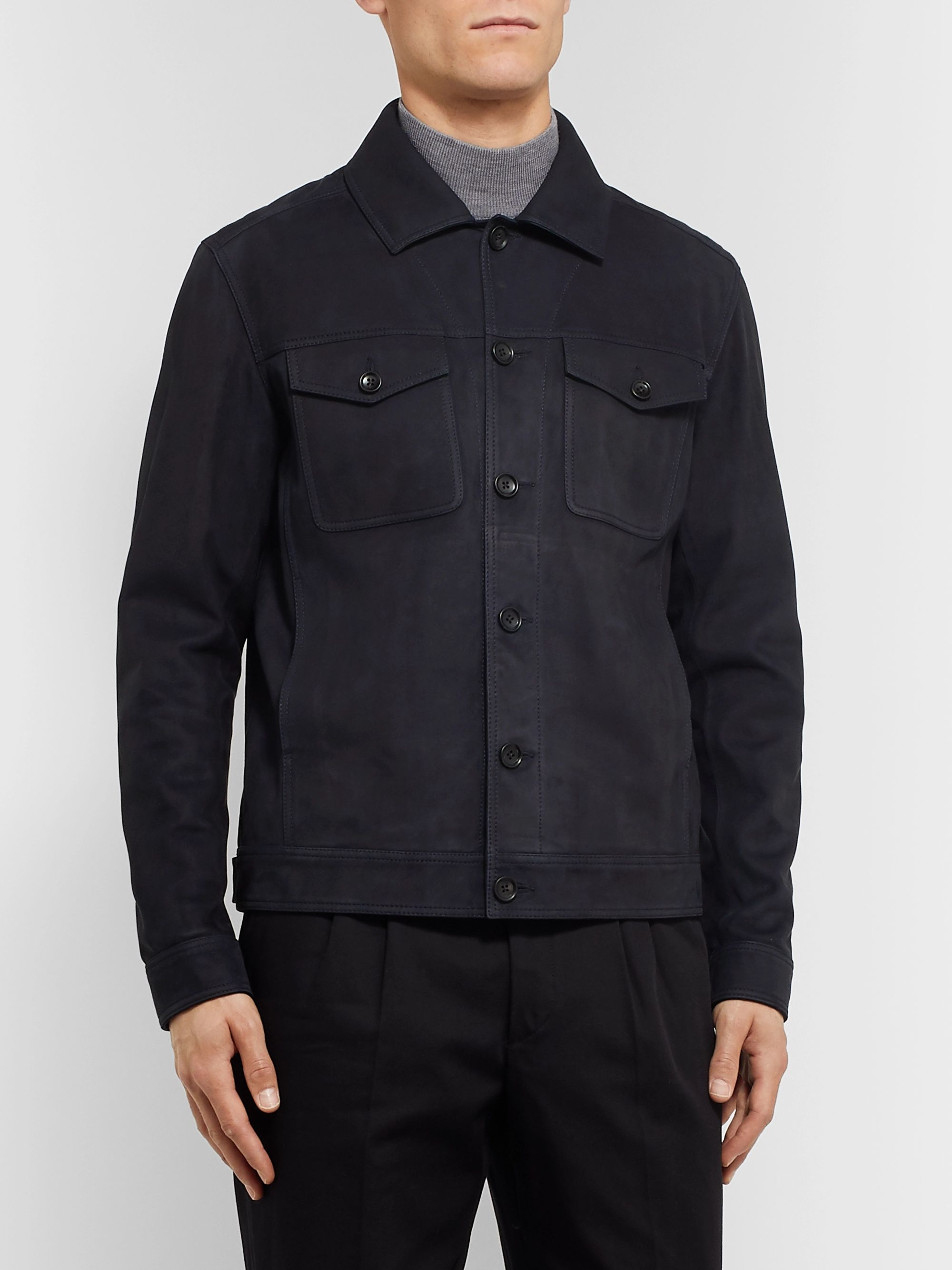 Mr P. Nubuck Trucker Jacket