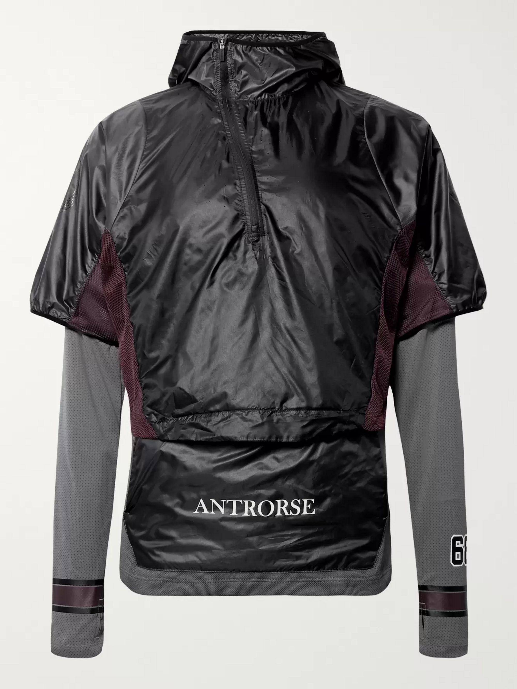 + GYAKUSOU Transform Convertible Dri FIT Mesh and Ripstop Running Jacket