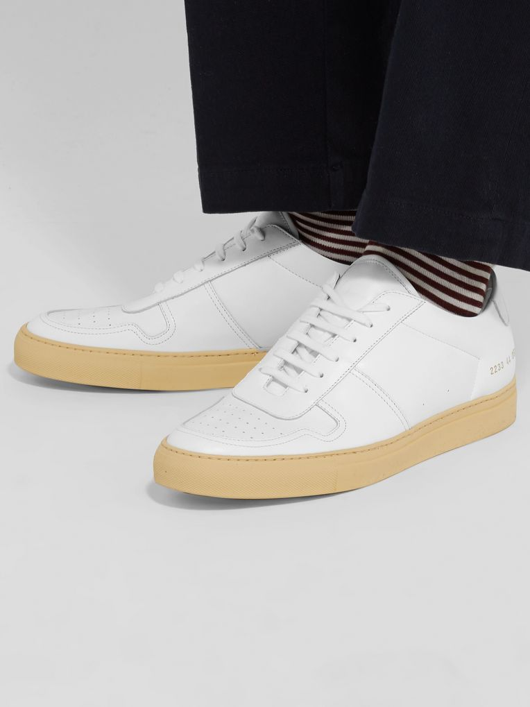 Common Projects BBall Vintage Leather Sneakers