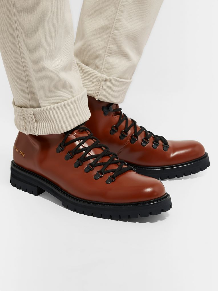 Common Projects Polished-Leather Boots