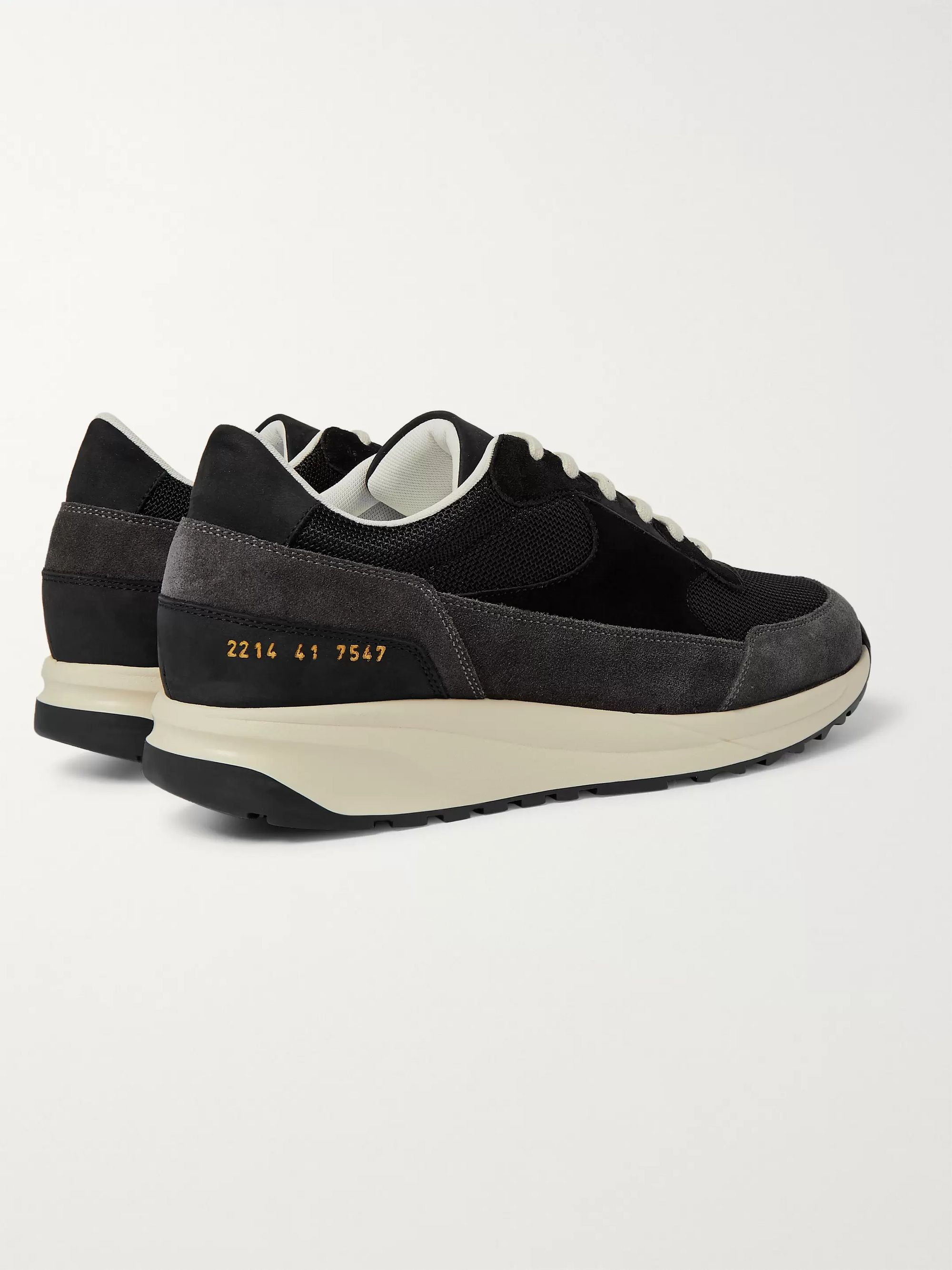 Common Projects Track Classic Nubuck, Suede and Mesh Sneakers