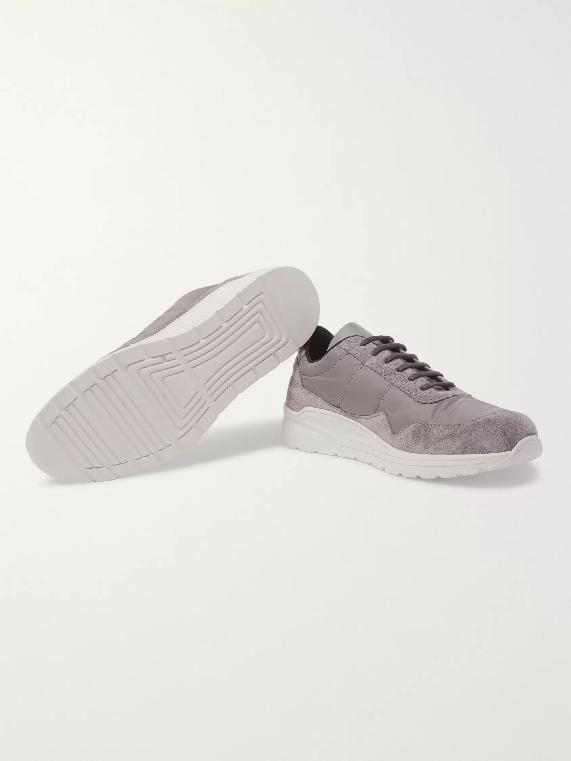 Common Projects Cross Trainer Suede, Nylon and Leather Sneakers