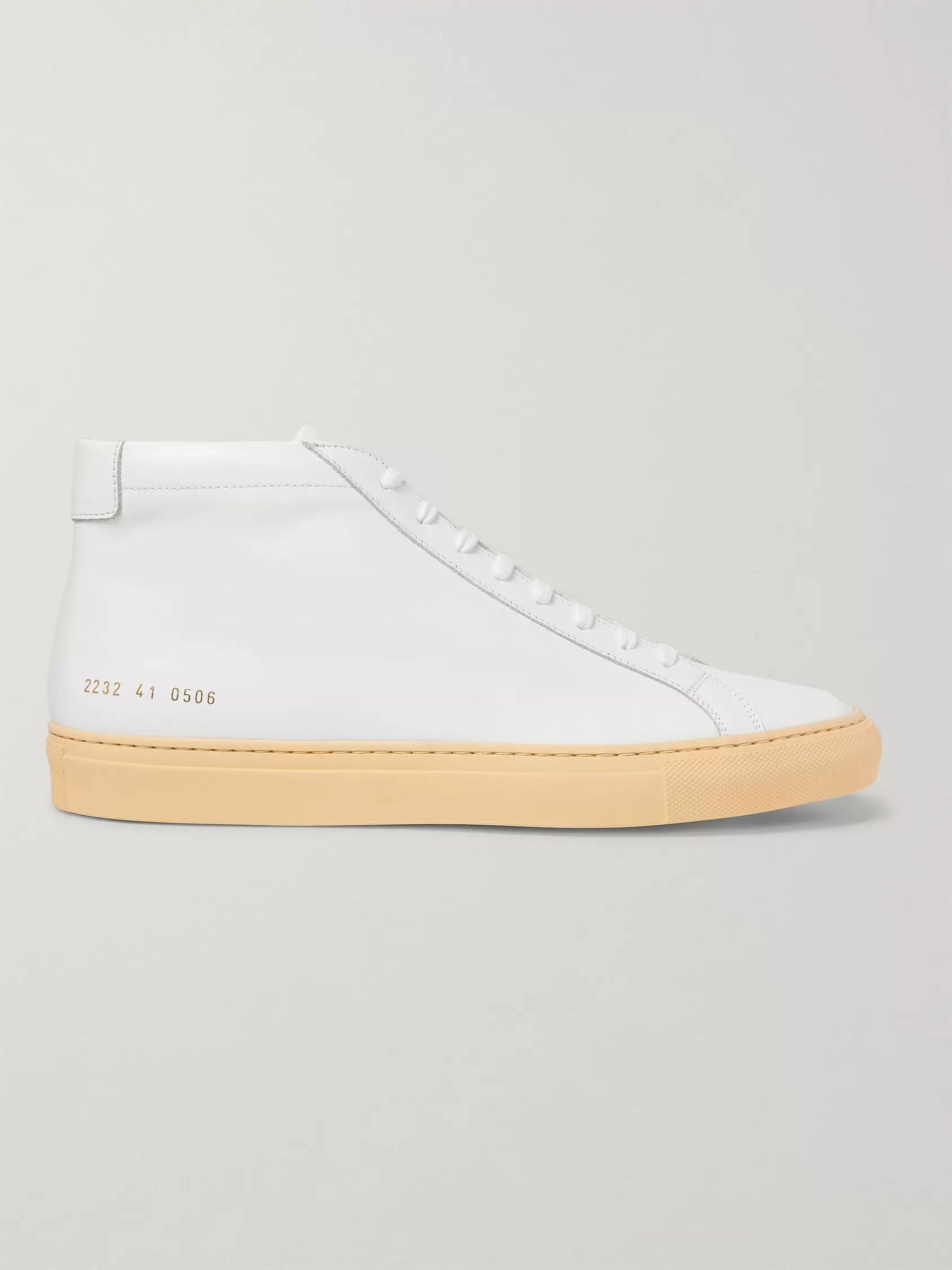 Common Projects Achilles Vintage Leather High-Top Sneakers
