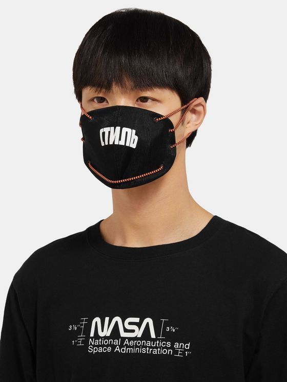 Heron Preston Printed Canvas Mask