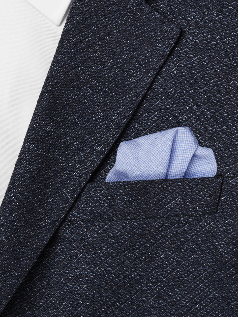 Anderson & Sheppard Puppytooth Linen Pocket Square