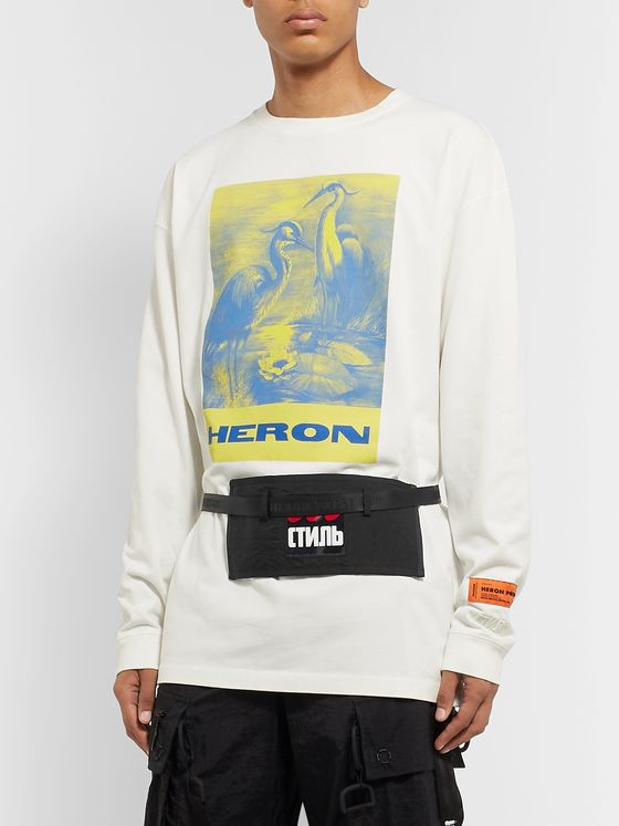 Heron Preston Logo-Appliquéd Shell Belt Bag