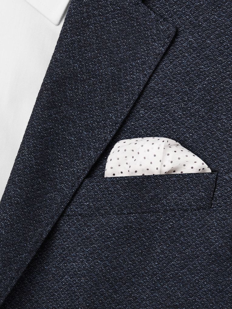 Anderson & Sheppard Polka-Dot Cotton Pocket Square