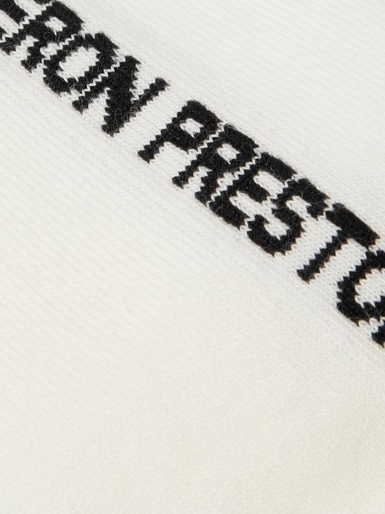 Heron Preston Logo-Intarsia Stretch Cotton-Blend Socks