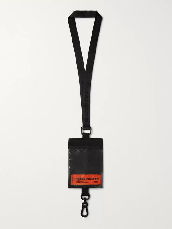 Heron Preston Shell and PVC Passport Lanyard