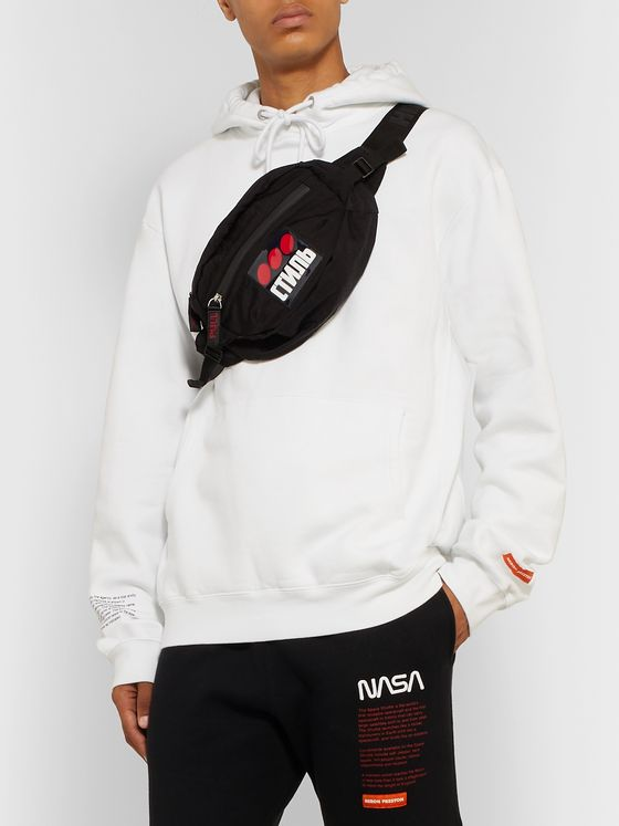 Heron Preston Logo-Appliquéd Nylon Belt Bag