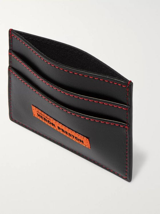 Heron Preston Logo-Detailed Leather Cardholder