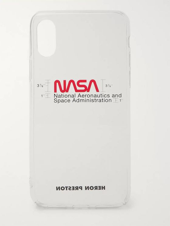 Heron Preston Logo-Print iPhone XS Case