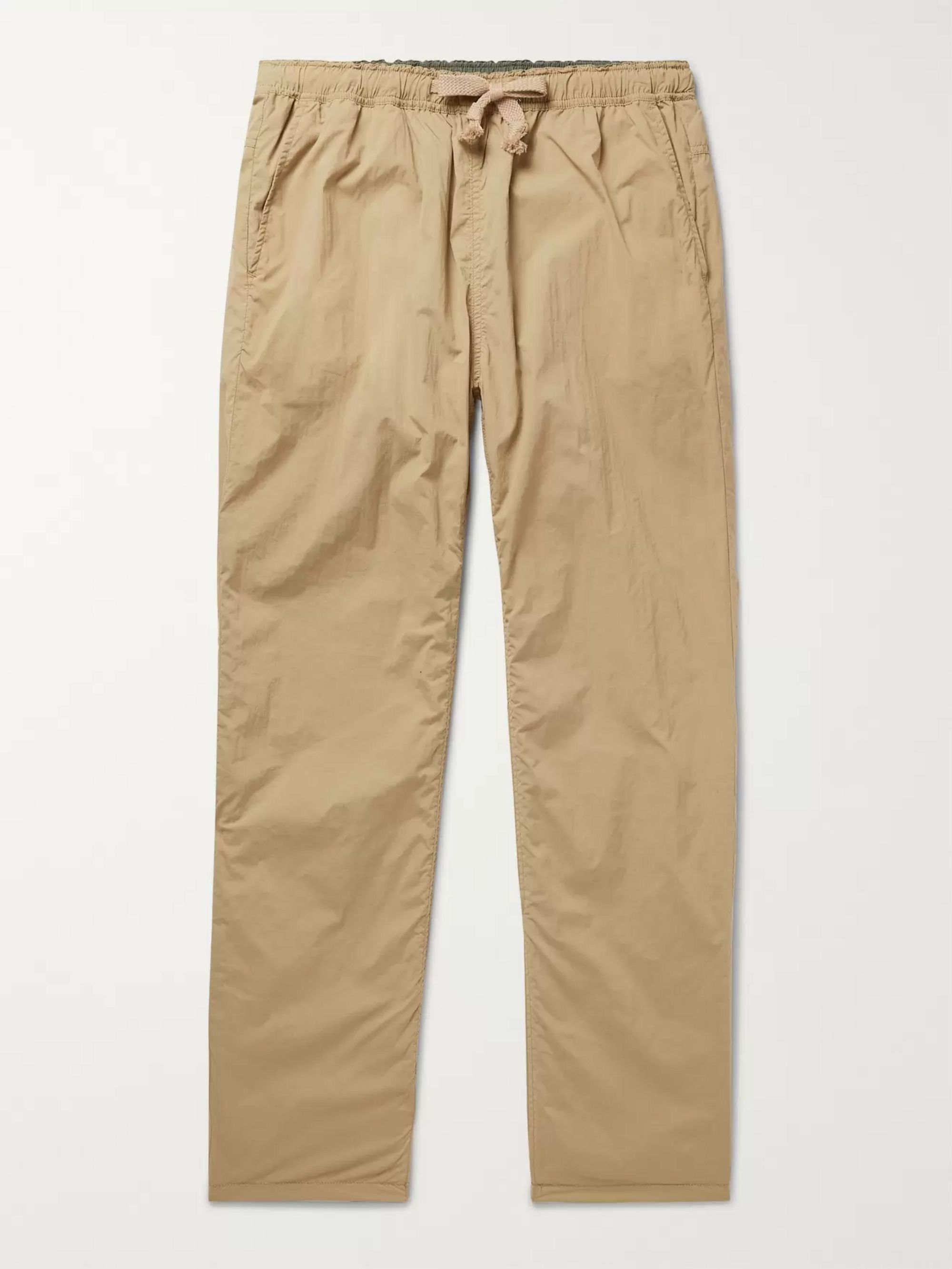 Remi Relief Slim-Fit Tapered Reversible Pleated Shell Drawstring Trousers