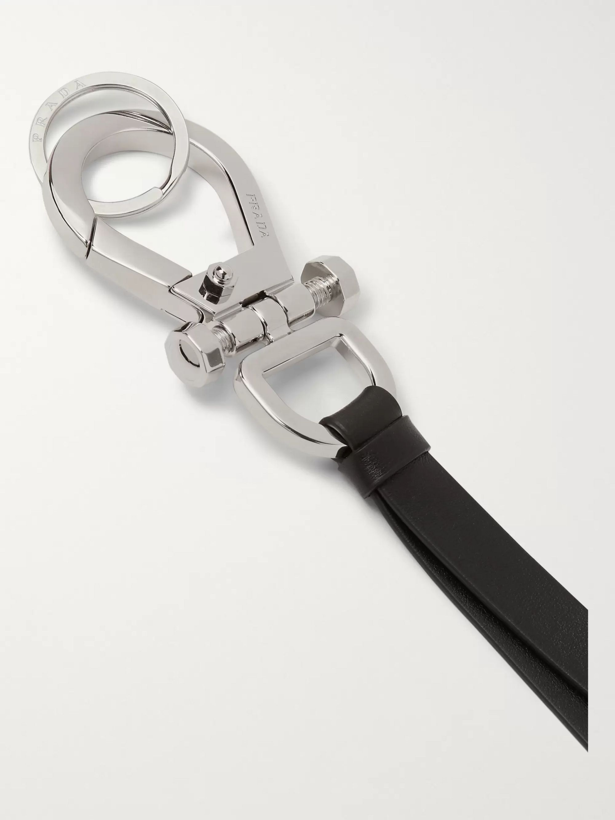 Prada Leather and Silver-Tone Lanyard