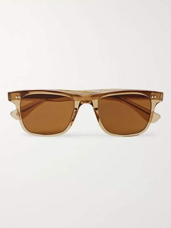 Garrett Leight California Optical Wavecrest Square-Frame Acetate Polarised Sunglasses
