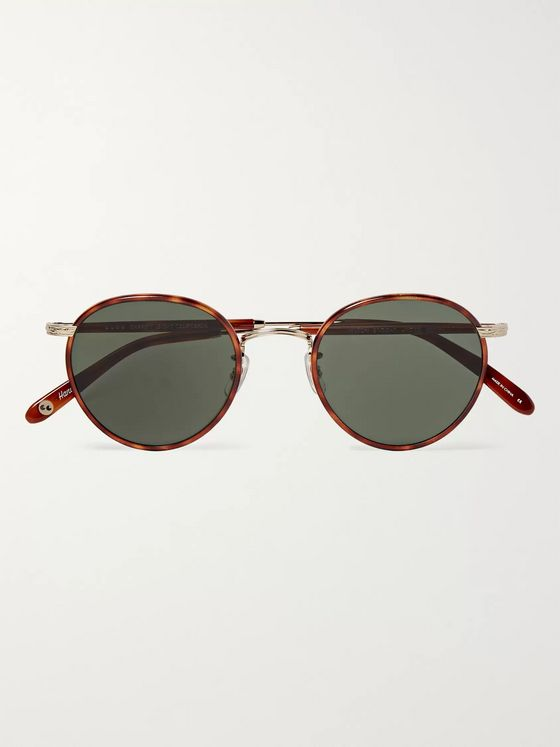 Garrett Leight California Optical Wilson 49 Round-Frame Tortoiseshell Acetate and Gold-Tone Sunglasses